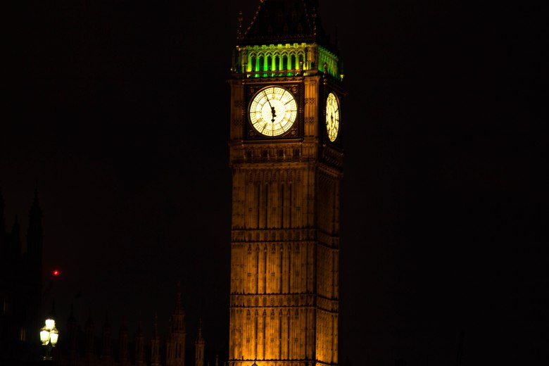 Big Ben London England - lit up night photography