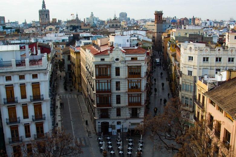 spain: Valencia rooftops
