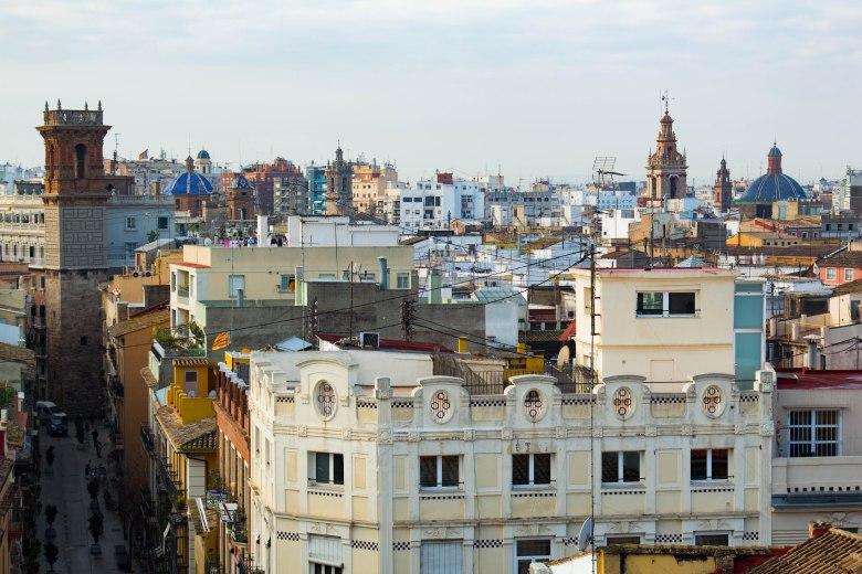 Valencia rooftops - Spanish streets