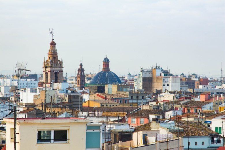 Spain: Valencian skyline and rooftops